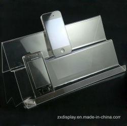 環境に優しいアクリルの電話陳列台の風防ガラスの携帯電話展覧会