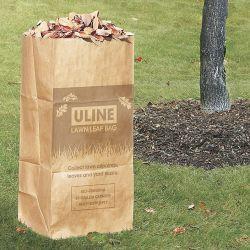 El papel de estraza Bolsa de hojas de césped y recoger las hojas y desechos de patio