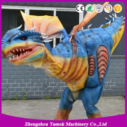 De echte Dinosaurus van de Simulatie van de Grootte Dierlijke past het Lopen het Kostuum van de Dinosaurus aan