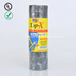 "Cinta aislante de PVC negro - rollo de 60 pies, paquete de 10 UL - 60"" x 3/4"" x 0,07"""