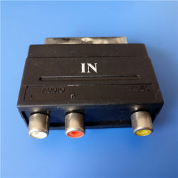 3 RCAへのType 21 Pins Scart Plug (SP-016)