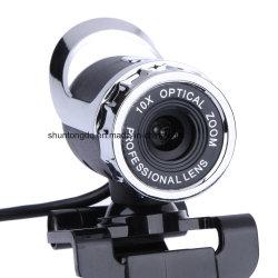 El más nuevo grado Mic de la leva 360 del Web de la cámara de la definición del USB 12 Megapixel del webcam alto con clip para el ordenador de Skype