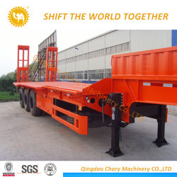 100ton Laden 4axles Low Loader/Lowbed Semi Trailer/Trailer Truck