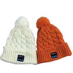 Cappello di Bluetooth di modo con i cappelli lavorati a maglia svegli di musica di Bluetooth della cuffia