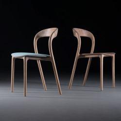 Страны Северной Европы Ash деревянные дома Мебель ткань подушка обеденный стул новых продуктов