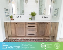 Governo di legno commerciale amichevole di vanità di legno solido della natura della stanza da bagno di Eco