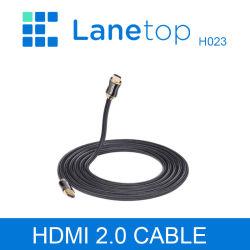 Câble HDMI Lanetop 4K Câble HDMI 3D 2.0 pour XBox 360 PS3 4 PRO Décodeur TVHD Nintend Contacteur projecteur câble 1m 2m 3m 1,5 m 5m