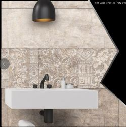Étage céramique avec motif de fleurs murs carrelés de conception