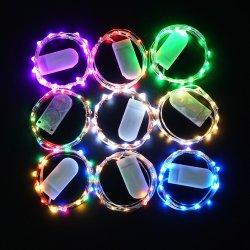 [كر2032] زرّ بطّاريّة يشغل ساحر [لد] خيط ضوء لأنّ عيد ميلاد المسيح/[ديولي]/عرس