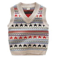 De kleurrijke OEM van de Kleren van het Jonge geitje Boutique van de Daling van het Ontwerp van de Jacquard breit het Katoenen Vest van de Baby