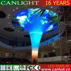 Creative forme spéciale plafond incurvé du vérin de l'écran à affichage LED