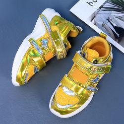 La mujer Shinny Moda PU planas Zapatos Zapatos de viaje