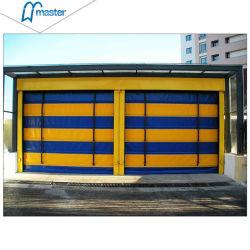 Windproof Velocidad rápida de PVC puertas corredizas de apilamiento de Hardware