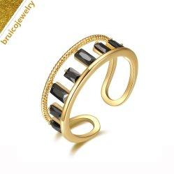 Bijoux en pierres de style le plus récent Fashion 925 Sterling Silver Jewellery anneau avec Zircon cubique