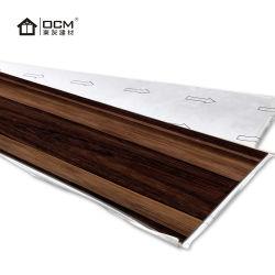 De façon étanche antidérapant du grain du bois plancher de cuisine en vinyle