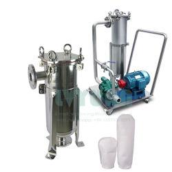 オイルの液体ガスの処置フィルターのための高品質のステンレス鋼の車輪ポンプ単段のバッグフィルタハウジング装置50ミクロン