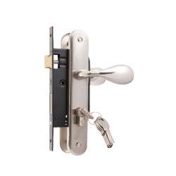Serrure de porte d'entrée double face de la poignée de porte clé verrouiller ensemble serrure de porte encastrées