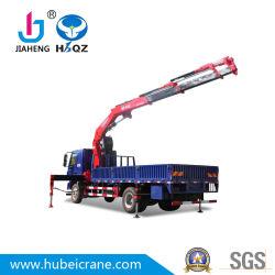 HBQZ 10 van het Gewricht van de Boom Opgezette Ton Kranen van de Vrachtwagen met 4 Vouwende Wapens en Hydraulische Cilinder Jiaheng