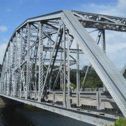 General Puente de estructura de acero con un fuerte bastidor metálico de construcción prefabricados