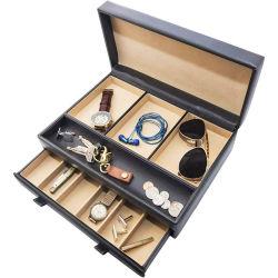 Benutzerdefinierte Luxus handgemachte Leder Geschenk Schmuck Box zum Speichern Uhren / Gläser