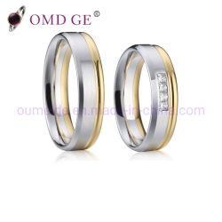 Custom пару латунные кольца медных сплавов Ювелирные изделия