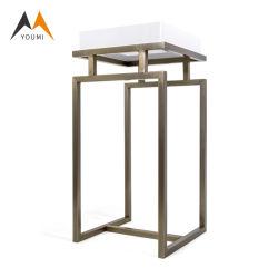 Tavolino da salotto di legno bianco personalizzato del sofà di memoria di lusso dell'acciaio inossidabile