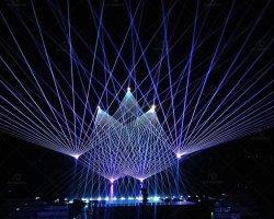 Luce laser esterna del proiettore della strumentazione della fase di rave di festival di concerto di RGB 22W