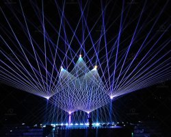 RGB impermeável 22W luz Laser Stage Desempenho Laser Exterior