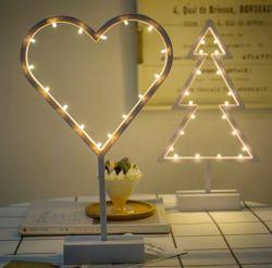 Weinig Lichten van de Lijst van de Kerstboom van de Liefde van de LEIDENE Ster van de Nacht Lichte