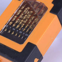 DIN338 19PC Broca de torção Tin-Coated Definido