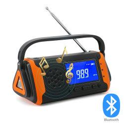 Banco de potência Tocha AM / FM Lanterna de virabrequim USB móvel Luz Noaa caminhadas equipamento exterior Rádio Solar