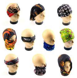 Face au bandana prix bon marché de gros d'Usine Nouvelle conception logo personnalisé Bandanas tubulaire multifonctionnelle coiffure