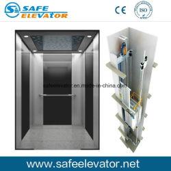8 personas 630kg de Acero Inoxidable Espejo Eaching Residencial Casa Villa panorámica elevador de pasajeros