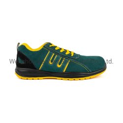 As mulheres de camurça verde Desporto couro Calçado Botas Calçado de segurança de trabalho