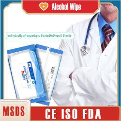 Tessuto bagnato a gettare di disinfezione antisettico della pulitrice con alcool