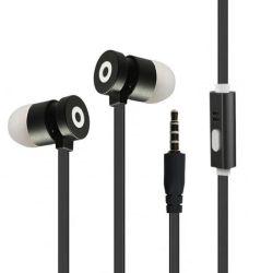 Flexibles Flachkabel 120cm mit 3,5mm Doppelpolen dynamisch Gehäuse Smart Phone Kopfhörer