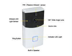 Telefoon van de Deur WiFi van de Deurbel van WiFi van de intercom de Draadloze Video voor de Veiligheid van het Huis