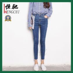 Form-BaumwolleElastane Denim keucht Frauen/Dame-dünne Denim-Jeans