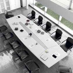 حديثة [كنفرنس رووم] تصميم صور أسود إنارة [أوك] مقبس تجويف [كنفرنس تبل] مع 20 مقادات