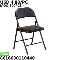 Réunion pliable de gros de la formation Métal en plastique Camping chaise pliante de salle à manger