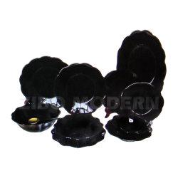 Black Rock Series Opal Glassware Dinner Set SGS Zertifizierung Shake Opalglas Aus Murano