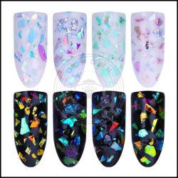 Copos de uñas acrílicas lentejuelas Powder glitter Decoración de uñas irregulares