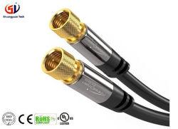Câble audio coaxial numérique Câble vidéo (10ft) des connecteurs de câble coaxial satellite - broche mâle F - Connecteur les câbles coaxiaux