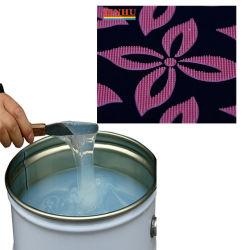 液体のシリコーンスクリーンの印刷の技術を作動させるのにガラステーブルの上を使用しなさい