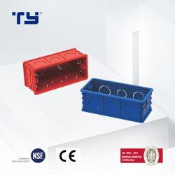 Caixa de junção de plástico Eléctrico de PVC/Caixas de Junção Elétrica com doze Junctionport (118 estilo) de isolamento Conduitsystem Elétrico (JG - vermelho/azul)