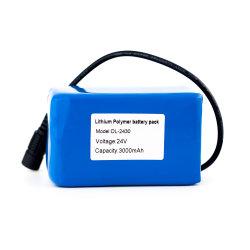 24 V au lithium-polymère rechargeable 3000mAh Batterie pour voyant LED