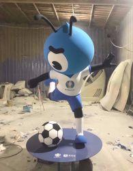 Cartoon mascota Ant FRP Staute Arte de esculturas de fibra de vidrio