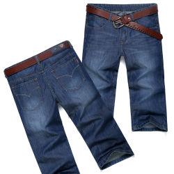 高品質の人(HDMJ0029-18)のための中型の長さのデニムのジーンズ