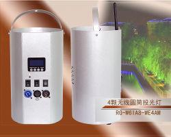 Rigeba LED 무선 배터리 실린더 조명 4 * 8W RGBW 4인치 이벤트를 위한 LED 벽 세척등 1개