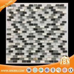 Mosaicos de vidro e Mãe de Pearl Shell Mosaico Mosaico da parede para casa de banho (M853004)